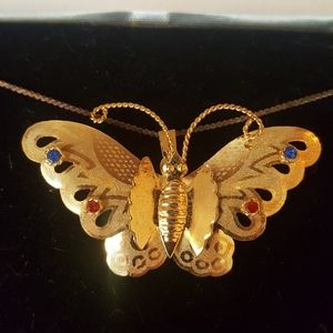 Butterfly Pendant and Brooch Pin